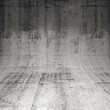 Abstract square concrete interior, 3d illustration Stock Photography