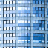 Abstract square crop of blue business office Royalty Free Stock Photo