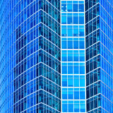 Abstract square crop of skyscraper Stock Photos