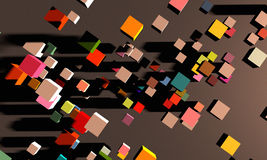 Abstract square cube motion background Royalty Free Stock Photos