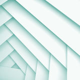 Abstract square 3d background with white layers. Abstract geometric background with white layers pattern, 3d illustration with soft blue shadows Stock Photos