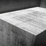 Abstract square 3 d concrete interior Stock Images