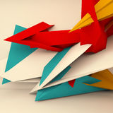 Abstract square 3d polygons render Royalty Free Stock Photo