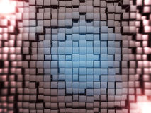 Abstract square dark background. 3D. Rendering Stock Image