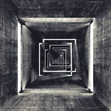 Abstract square dark concrete tunnel interior Royalty Free Stock Photos