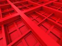 Abstract Square Design Architecture Red Background Royalty Free Stock Photo