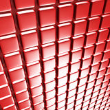 Abstract Square Design Architecture Red Background. 3d Render Illustration Stock Photography