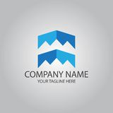Abstract square element logo Stock Photography