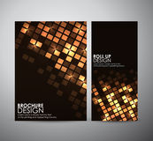 Abstract square frame background brochure business design template or roll up. Stock Photos
