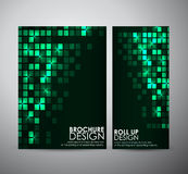 Abstract square frame background brochure business design template or roll up. Royalty Free Stock Photography