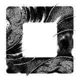 Abstract square frame. Made by hand drawing with pencil Royalty Free Stock Photography
