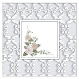 Abstract Square Frame With Ornaments. Royalty Free Stock Photo