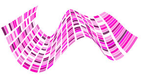 Abstract square geometric pattern with waves. Striped structural. Texture in pink color. Vector illustration Royalty Free Stock Images
