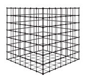 Abstract square with grid. eps 10 vector illustration. Abstract square with grid. Isometric complex figure . eps 10 vector illustration Stock Illustration