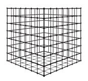 Abstract square with grid. Isometric complex figure . A stylized square on a white background Royalty Free Stock Photography
