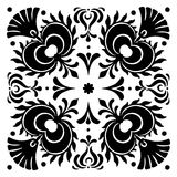 Abstract square Hungarian motifs. Black and white Royalty Free Stock Photos