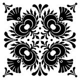Abstract square Hungarian motifs. Black and white Royalty Free Stock Images