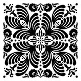Abstract square Hungarian motifs. Black and white Royalty Free Stock Image