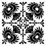 Abstract square Hungarian motifs Stock Photo