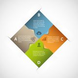 Abstract square infographic Royalty Free Stock Photos