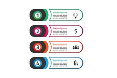 Circle abstract infographics set template design concept think idea New Version stock illustration