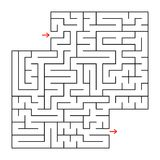 Abstract square isolated maze. Black color. An interesting and useful game for children and adults. Simple flat vector illustratio. N. With a place for your Royalty Free Stock Image