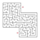 Abstract square isolated maze. Black color. An interesting and useful game for children and adults. Simple flat vector illustratio. N. With a place for your Royalty Free Stock Photo