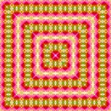 Abstract square kaleidoscope of pink and yellow tulips Stock Photos