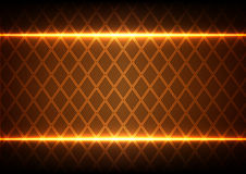 Abstract Square and light on brown  background Stock Images