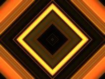 Abstract square lights background, orange theme stock illustration