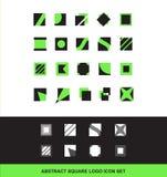 Abstract square logo icon set flat Royalty Free Stock Image