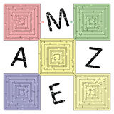Abstract square maze Royalty Free Stock Photography