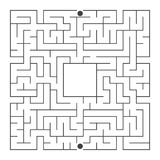 Abstract square maze. An interesting game for children and teenagers. Simple flat vector illustration isolated on white background.  Stock Image