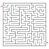 Abstract square maze. An interesting game for children and teenagers. Simple flat vector illustration isolated on white background.  Stock Photography