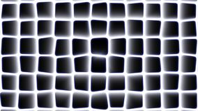 Abstract square morphing pattern with radial glow and bluish edges moving from right to left. Abstract square constantly morphing pattern with radial glow and stock footage
