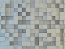 Abstract square mosaic background. 3D. Rendering Royalty Free Stock Photography
