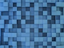 Abstract square mosaic background. 3D. Rendering Stock Photo