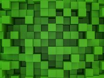 Abstract square mosaic background. 3D. Rendering Royalty Free Stock Photos