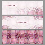 Abstract square mosaic banner design template set Royalty Free Stock Images