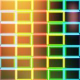 Abstract Square Neon Mosaic Blurred Background Vector. Illustration Stock Images