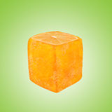 Abstract square orange fruit Royalty Free Stock Images