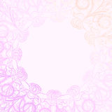 Pink round frame Royalty Free Stock Image