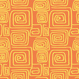 Abstract square pattern spiral Stock Photos