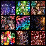 Abstract square pixel mosaic Stock Photo