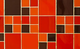Abstract square pixel mosaic background Royalty Free Stock Images
