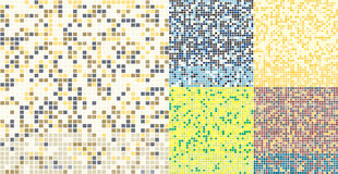 Abstract square pixel mosaic background. Seamless colorful tiles pattern. Royalty Free Stock Image
