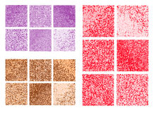 Abstract square pixel mosaic background set. Stock Image