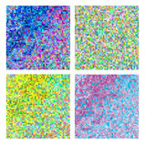 Abstract square pixel mosaic background set Royalty Free Stock Photos