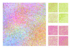 Abstract square pixel mosaic background set Stock Photography