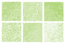 Abstract square pixel mosaic background set. Stock Photos
